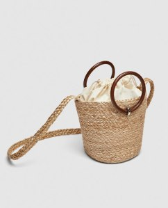 Zara tote with wooden handles